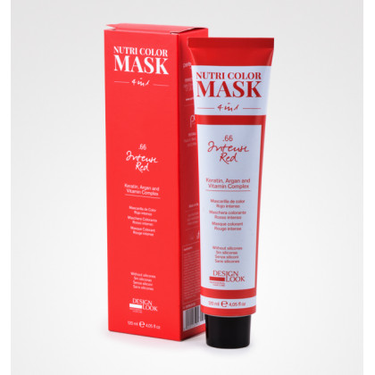 DESIGN LOOK NUTRI COLOR MASK 4 IN1 120ML - .66 INTENSE RED