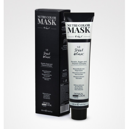 DESIGN LOOK NUTRI COLOR MASK 4 IN1 120ML - 1.0 STEEL BLACK