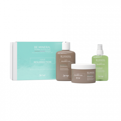 BE HAIR - BE MINERAL - HAIR RESURRECTION KIT RISTRUTTURANTE 3PZ